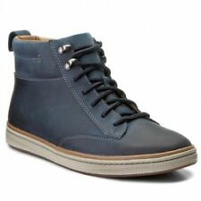 Clarks Men's NORSEN MID Warmlined Dark Navy Leather Ankle Boots UK 8 1/2 G