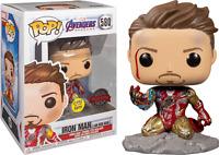 I am Iron Man Glow GITD Funko Pop Vinyl New in Mint Box + Protector
