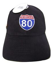United States Interstate 80 Highway American Original Black Embroidered Cap Hat