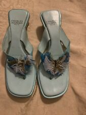charles jourdan shoes Slipper Sandal Turquoise
