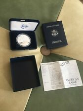 2002-W American Eagle One Ounce Proof Silver Coin Complete Original Owner $1 !!!