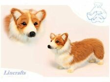 Welsh Corgi Plush Soft Toy Dog by Hansa from Lincrafts. 6684