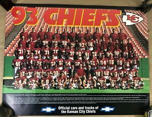 KANSAS CITY CHIEFS 1993 TEAM PICTURE POSTER FOOTBALL NFL (C12)