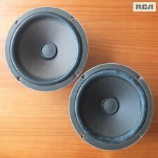 "vintage RCA 8"" woofers with Alnico magnets and early rubber surrounds—USA, 1970"