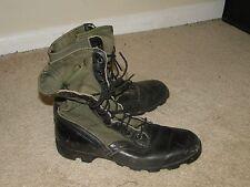 Vintage  Jungle  US Army Combat Leather  Military Boots Vietnam Sz.9