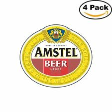 Amstel Beer Logo Alcohol 4 Vinyl Stickers 4X4 Inches