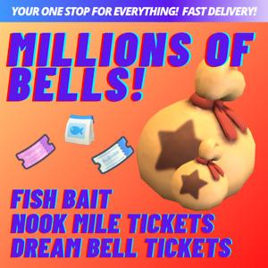 BELLS! FISH BAIT! NOOK MILES! DREAM TICKETS! 💰  Animal : Crossing New Horizons