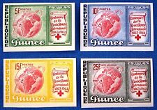 Space Raumfahrt 1963 Guinea Rotes Kreuz Red Cross 204-207 B Imperf MNH/1109