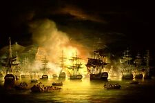 Royal Navy Bombardment of Algiers Lord Exmouth 1816  7x5 Inch Print