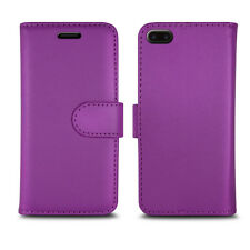 Magnetic Leather Flip Book Folio Case Cover for iPhone 5 5c 5s Screen Guard Plain Purple I Phone 6