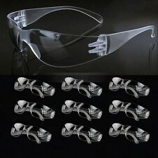 10x Vented Safety Clear Goggles Glasses Eye Protection Lab Work Anti Fog Eyewear