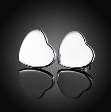Stud Fashion Earrings Valentine's Gift Womens 925 Sterling Silver Heart Love
