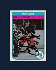 Ed Johnstone signed New York Rangers 1982 Opee Chee hockey card