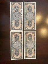 (4) 1961 Banco De Mexico Un Peso. Consecutive & Uncirculated