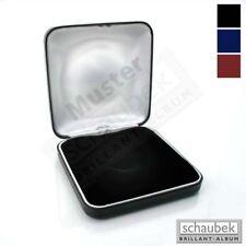 Schaubek Numismatik Münzkollektion Münz-Etui, Metall, universal gepolsterte Einl