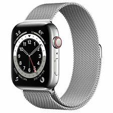 *SALE* Apple Watch Series 6 44mm Silver Stainless Steel - Silver Milanese Loop R