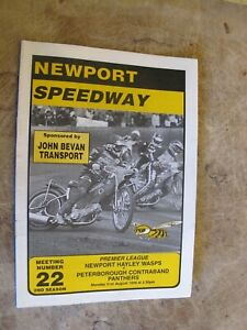 1998 Motorcycle Speedway Programme - Newport Wasps v Stoke Peterborough Panthers
