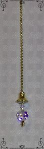 Handcrafted Bright Gold Ceiling Fan Pull Made With Swarovski Crystal AB Flower