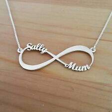 Infinity Necklace, Infinity symbol, Name Necklace, 2 name personalized neckless