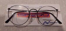Vintage Girard 4434 Mat.A.Pewt 51/20 P3 Round All Metal Eyeglass Frame NOS  #227