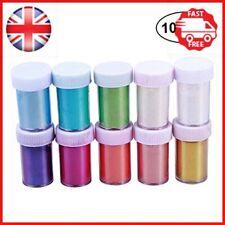 Healifty 10Pcs Makeup Mica Pigments Powder Shimmer Mica Pigment Powder for DIY