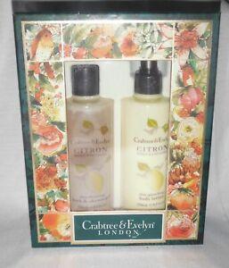 Crabtree & Evelyn Citron Honey Coriander Bath Gel & body Lotion 8.5 oz  gift box