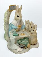 Border Fine Arts BEATRIX POTTER BP 11 Mrs. Rabbit At Work Figurine 1987 MINT!