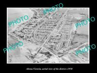 OLD LARGE HISTORIC PHOTO OF ALTONA VICTORIA AERIAL VIEW OF THE DISTRICT c1950