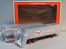 LIONEL GM&O 40' TRAILER 2 PACK O GAUGE train freight semi truck foot 6-84883 NEW