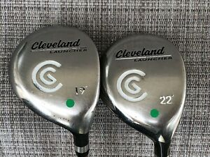 * PAIR * Cleveland Launcher 19° & 22° Fairway Woods RH REGULAR
