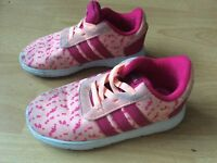 Kids girls adidas trainers shoes size 8 infant