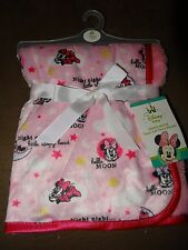 "Baby Disney Minnie Mouse Super Soft Fleece Baby Blanket-30""X30""-New With Tag"