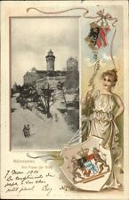Nurnberg Germany Am Fusse der Burg - Beautiful Woman & Shield Border PC