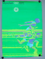 Plakat Olympische Spiele München 1972 Ottl Aicher DIN A1 Olympia Poster Sprinter