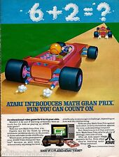 1982 ATARI Print AD Math Grand Prix Video Game ADVERTISING PAGE