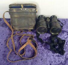 Antique / Vintage Adolf Paris Altona Kunigstr Binoculars In Case