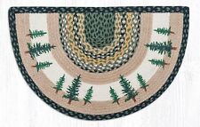 "COUNTRY PRINTED SLICE BRAIDED JUTE AREA RUG 18""X29"" By EARTH RUGS--TALL TIMBERS"