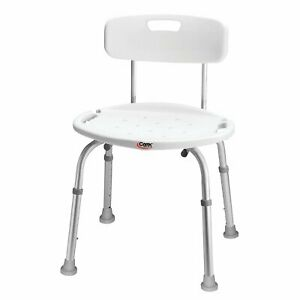 Carex Health Brands Adjustable Bath and Shower Seat with Back