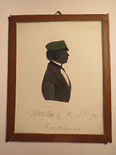 Jena - 1845-48 - Student / Schüler A. Möller mit Mütze - Schattenriss Silhouette