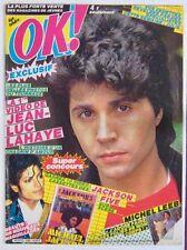 Revue OK Magazine Avril 1984 Jean-Luc Lahaye Michael Jackson Claude François