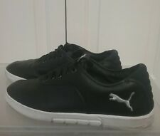 4337d9a11c31 Puma Men s Shoes 30508002 Black Lace Up Puma Embroidery Logo Sz 12