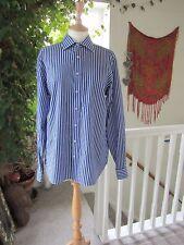 "Men's Ben Sherman Blue & Grey Stripped Shirt Short Sleeved Size 42"" chest 15 1/2"