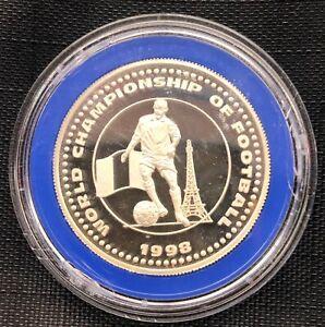 Uganda 2000 shillings 1996 FIFA World Cup in France (silver), Football