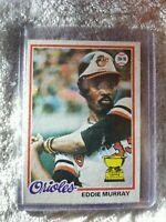 1978 Topps Eddie Murray Baltimore Orioles #36 Baseball Card