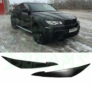 HEADLIGHT EYEBROWS COVERS TRIM FOR BMW X6 E71 2008-2014