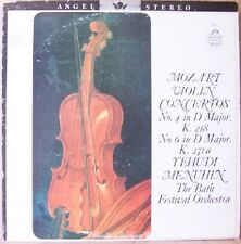 Mozart Violin Concertos #4 in D Major (K. 218) #6 in D Major (K. 271a); Menuhin