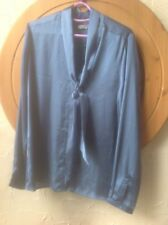 🌺❤️❤️❤️ M&S CLASSIC SIZE 14 SILKY BLUE Blouse 👚 -BNWOT🌺
