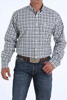 Cinch Men's Pink & Black Plaid Button Up Western Shirt MTW1104849