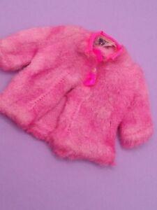 Vintage Barbie Skipper Sears Exclusive Young Ideas #1513 - Dark Pink Fur Coat