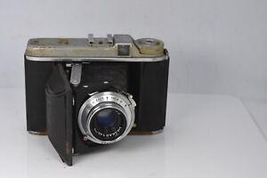 Vintage Voigtlander Perkeo I Camera w/Vaskar 75mm 4.5 Lens For Parts